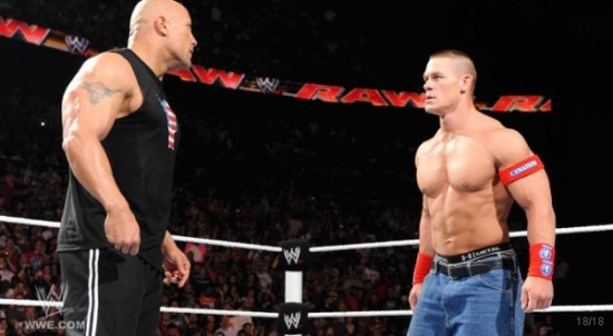 The Rock vs John Cena 550x302